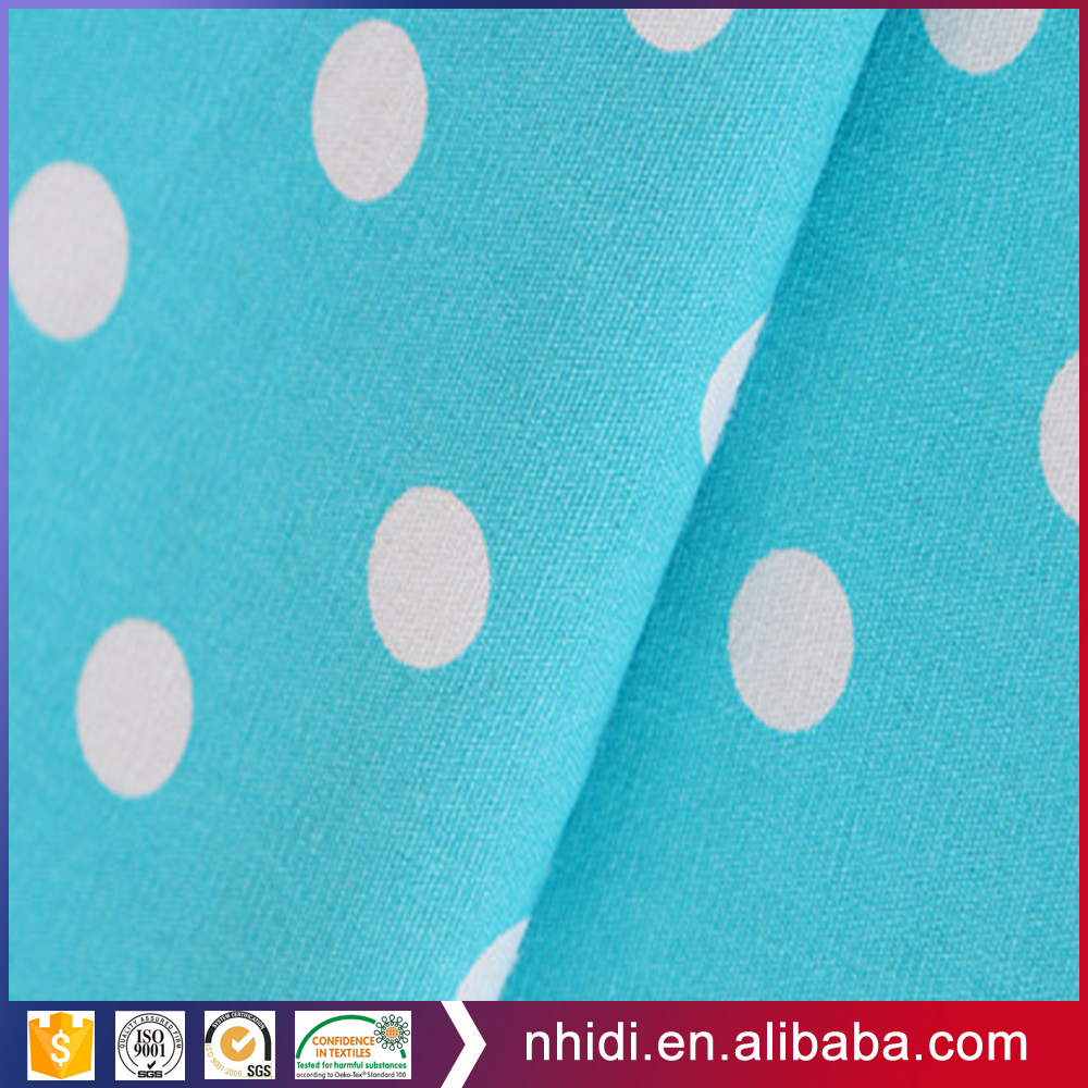 Polka Dot Pattern Cotton Poplin Fabric Printed for Shirt and Dress