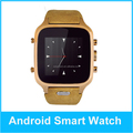 Touch screen mtk6572 android 3g watch phone for Android Phone call Bluetooth