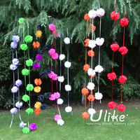 3.5M Wedding Pom Poms Garland event decorating materials