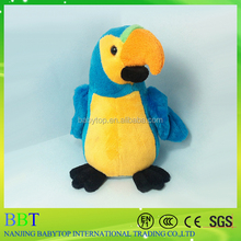 Custom Wholesale Best Made Stuffed Shanghai animal toy plush parrot birds