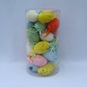 4*6cm spot foam egg with string for easter bauble