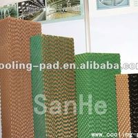 Evaporative Cooling Pad Brown Color Green