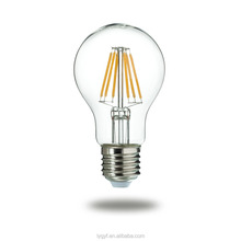 glass led filament light 6W led filament light 220V A60 E27