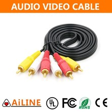 AiLINE Trade Assurance 1.5m 2m 3m White Yellow Gold Plated RCA Cables