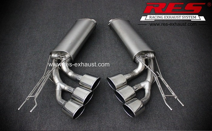 Supply best price gr2 titanium tail section exhaust pipe with valves for Benz G55 from China manufacturer