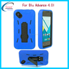 Alibaba express PC silicone stand hard case cover for blu advance 4.0 l phone case