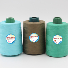 Bright shiny core spun polyester thread with high tenacity 6.5g/d core FDY