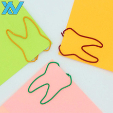 Advertising unique gifts colorful organ tooth shaped metal paper clip