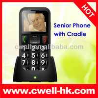 Big Button Dual SIM Senior Mobile Phone with Torch, SOS One key emergency call optional Cradle