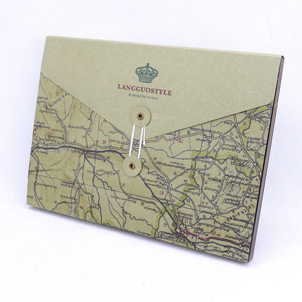 2014 LANGUO map label style Moadel: LGDT-2710 hot selling wholesale / self adhesive sheets photo album