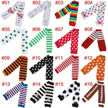 Chiffon Baby Leg Warmers Colorful Christmas Baby Leg Warmers Striped Cotton Leg Warmers