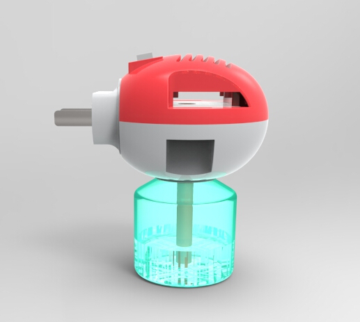 Mosquito repellent heater and liquid set