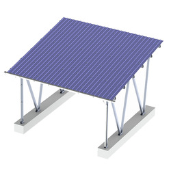 Water-proof solar mounting carport in aluminum frame