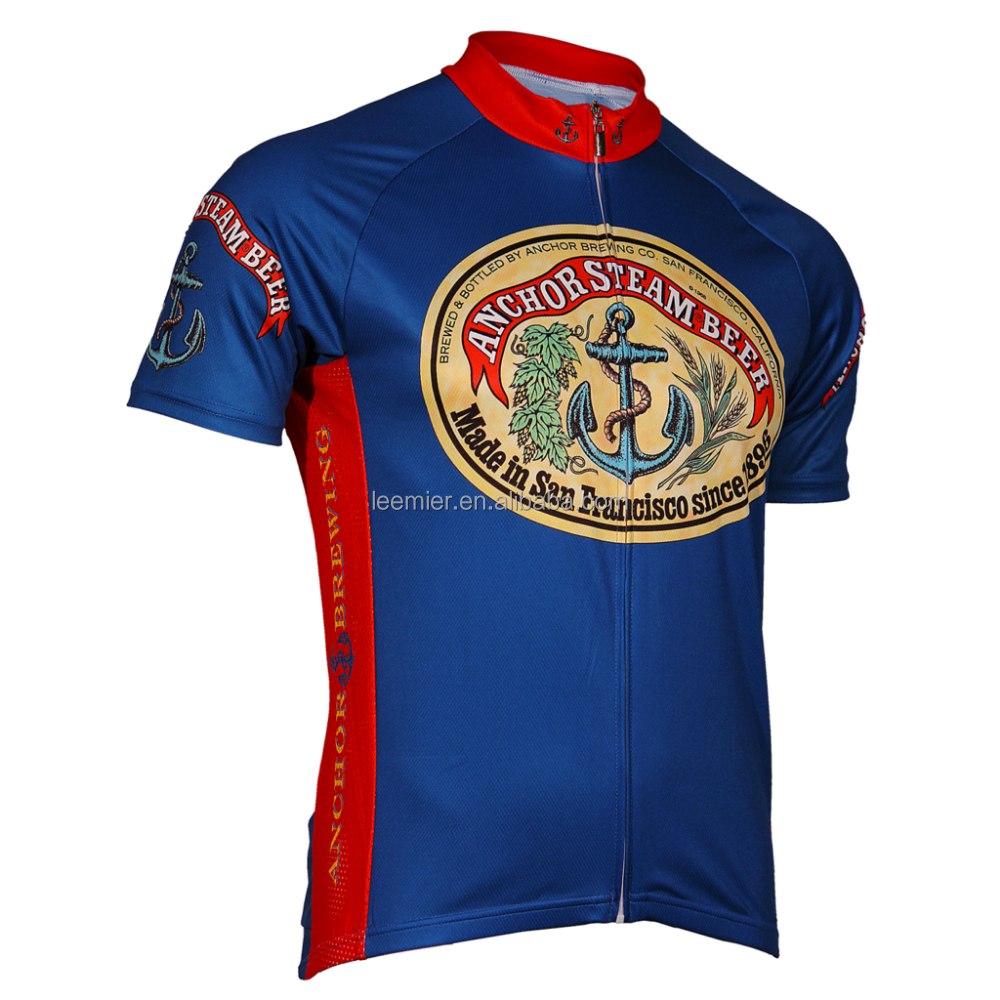 Wholesale customized cycling jersey shirts / road cycling clothing
