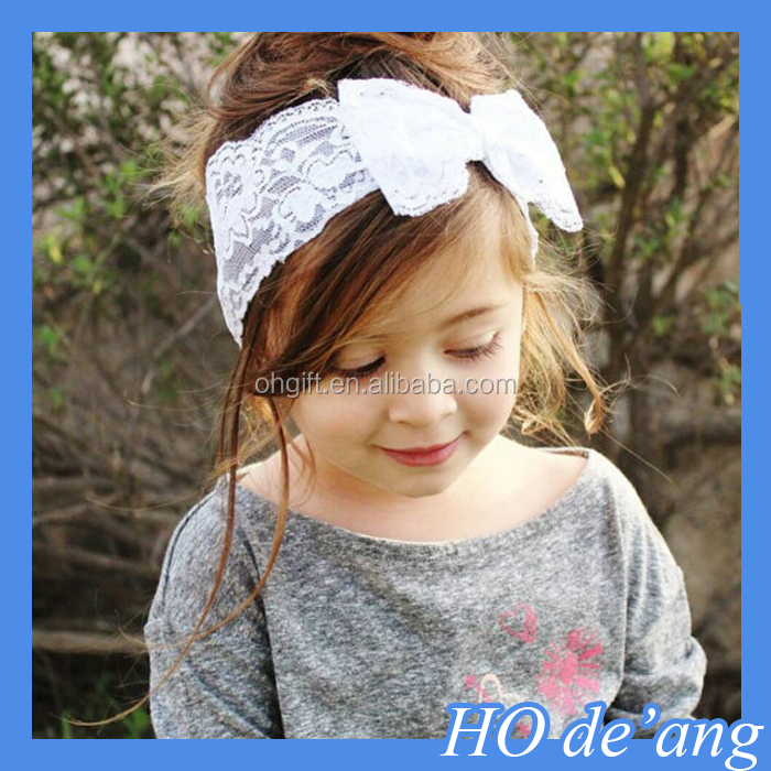 HOGIFT High Quality Baby Hair Accessories Sequined Bow Child Headband