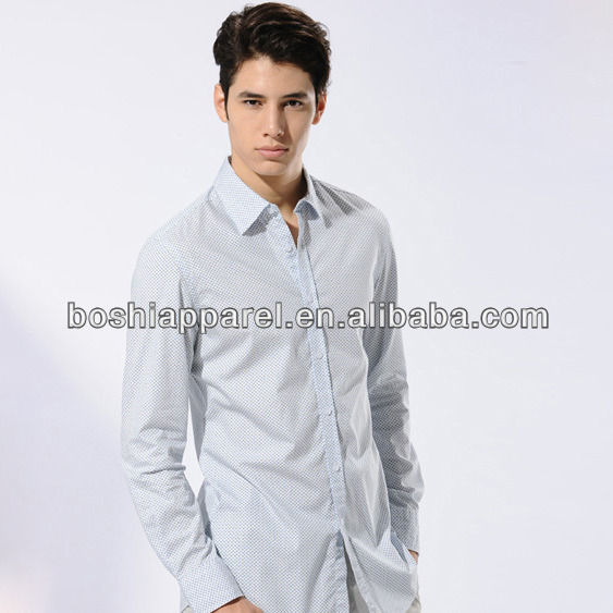 Shirt,long sleeve button down shirt with allover printing