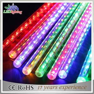 5050 rgb 12V led meteor shower rain tube light led christmas tree decoration outdoor 3d led flash tube smd3528 led meteor light