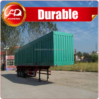 Box van wing open type 3 axle semi trailer used for stage tools and electronic products