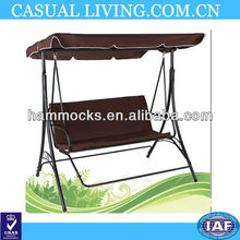 Promotional Steel Frame 3 Seater Swing With Canopy Hammock Chair For Garden