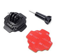 Gopro accessories 360 degree rotation helmet Mount & 3M sticker for go pro camera 3/2/1