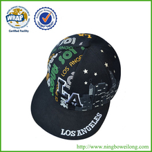 new design good quality los angeles fashion Flat peaked snapback cap