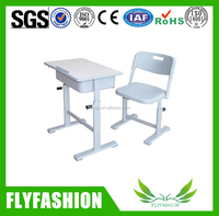 Adjustable Design Popular Single Student Desk And Chair