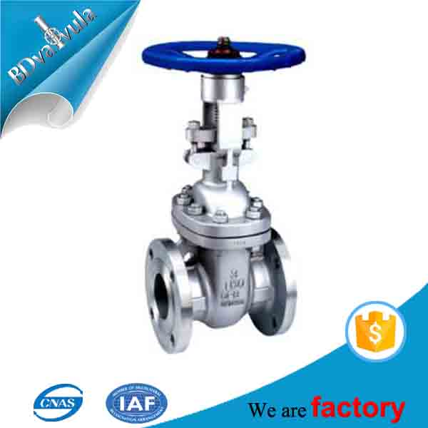 API Stainless Steel SS 304 316 Flanged End Bellow Seal Gate Valve