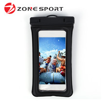Swimming floating mobile phone waterproof bag with headphone jack