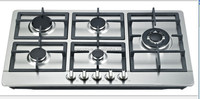 cooking appliance five burners gas hobs