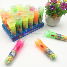 China candy wholesale new toy candy item in flashlight bottle halal candy