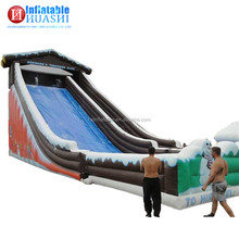 2017 attractive large PVC christmas theme inflatable slide for party