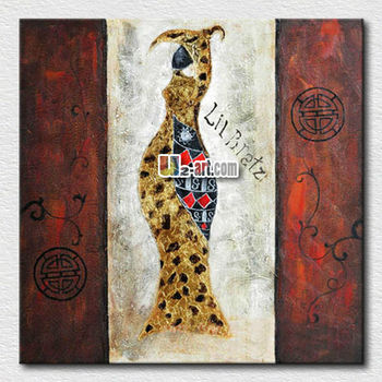 Modern canvas abstract African women oil painting