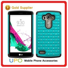 [UPO] New Arrival 2 in 1 Hard Plastic PC+Silicone Diamond Bling Star Hybrid Back Cover Case for LG G4 Beat