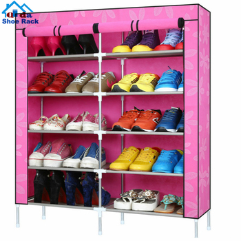 8 layer dustproof shoe rack wall mount