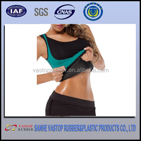 XS - 2XL sweat enhancing thermal vest neoprene waist training corset waist cincher waist trainer sauna shirt