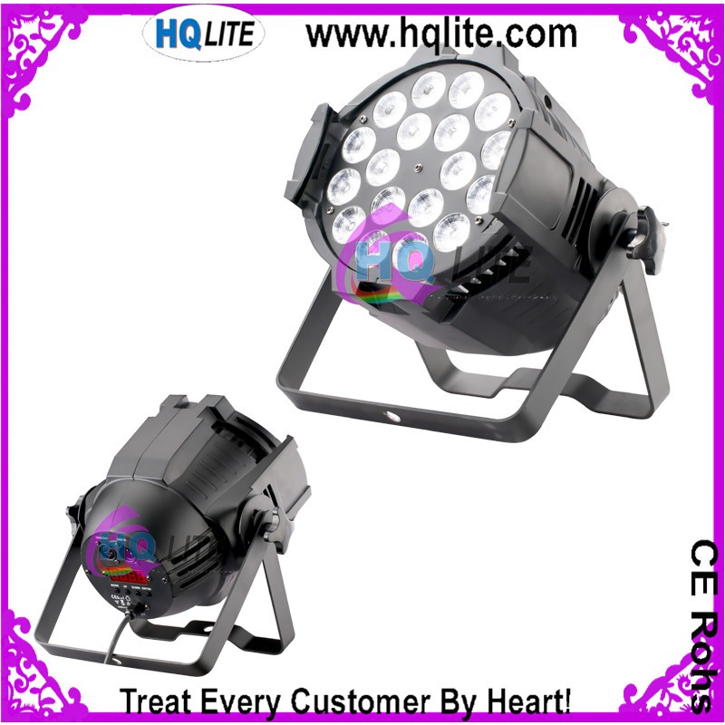 Wedding&Club led par light 18*10w RGBW colorful led stage par can