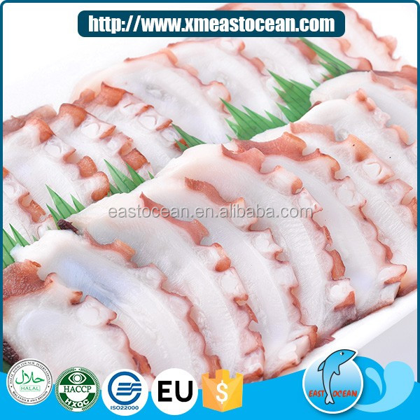China hot sales Japanese food canned frozen octopus slice for sale