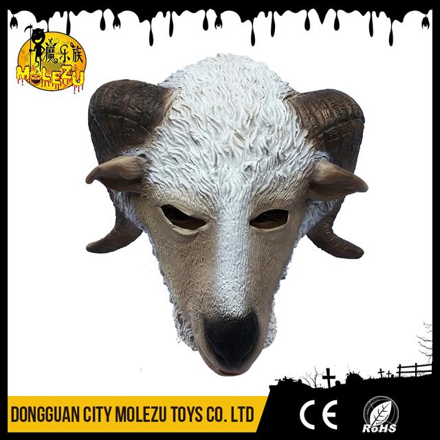 Durable 3D fancy dress halloween realistic goat animal mask