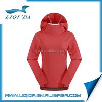 Spring red color anti-wrinkle polyester wholesale cotton blank womens hoodies