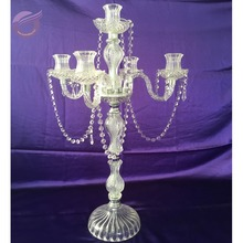 ZT01040 church wholesale wedding decorative clear crystal candlebra candle holder