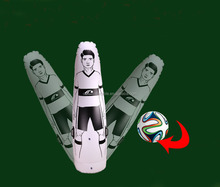 inflatable pvc football soccer training dummy football mannequin, inflatable goal keeper training dummy