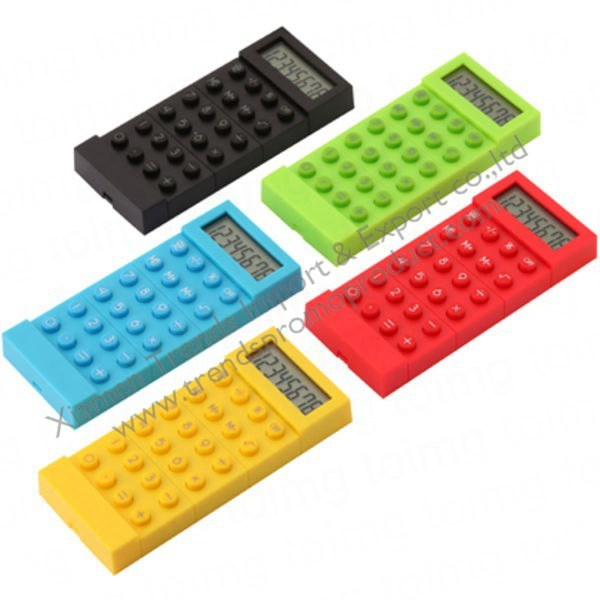bright modern colours funky calculator