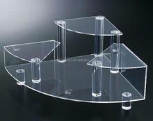 Clear retail shop display stand 3 tiers acrylic jewelry display set