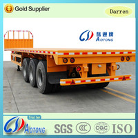Widely Used Tri Axles 30tons-80 tons Flatbed Style Truck Cargo Semi Trailer For Sale
