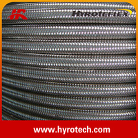 304 stainless steel wire braided convoluted teflon hose