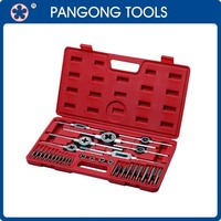 Industrial Mechanical Hand Tools Tap and Die Set with Blow Mold Case 35 Piece