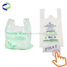 China Supplier Custom Biodegradable Plastic Carry Bags for Supermarket