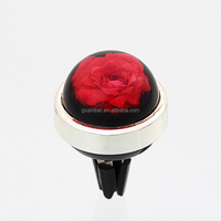 hot sale rose inside car vent clips air freshener