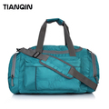 Big Volume Travelling Waterproof Travel Bag Blue Tote Luggage Travel Bag with Shoulder Strap