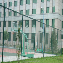 Playground PVC Coated Used Chain Link Fence for Sale Basketball Fence